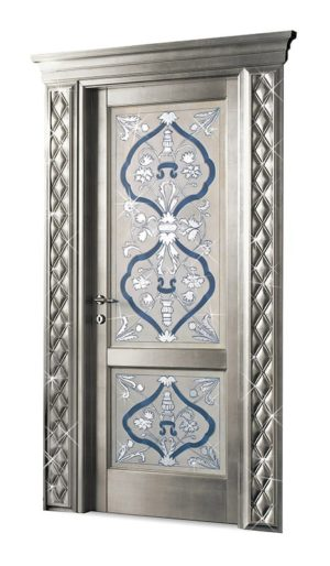 Bakokko_Classic-Doors-hinged-door-inner-frame-with-fresco-and-swarovski_DR300SW_2D