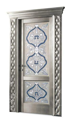 Bakokko_Classic-Doors- Распашная-дверь-с-фресокой-и-стразами_DR300SW_2D
