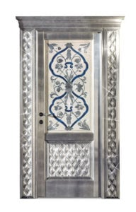 Bakokko_Classic-Doors-hinged-door-inner-frame-with-fresco-swarovski-and-capitonne_DR300SW_D1B