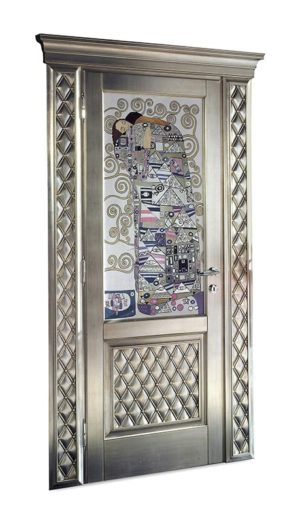 Bakokko_Classic-Doors-hinged-door-with-inner-frame-fresco-with-swarovski-capitonne_DR300V2_D1B