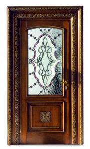 Bakokko_Classic-Doors-hinged-door-with-carving-wooden-frame-and-tiffany-glass_DR104A_VL