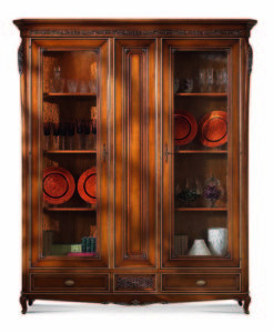 Bakokko-Palazzo-Ducale-Carved-display-cabinet-woode-back-two-glass-doors_5002W