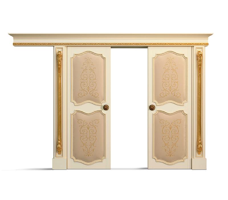 Porta scorrevole doppia telaio interno a 2 pannelli - Porta scorrevole doppia ...
