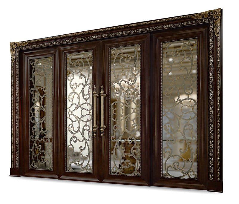 Bakokko_Classic-Doors-Ornate-sliding-door-with-art-glass-panel_DR114AB/V